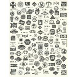 Art Print: Variety of Train Insignia, 24x18in.