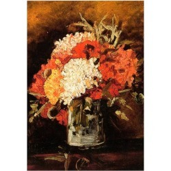 Poster: Vincent Van Gogh Vase with Carnations 2 Art Print Poster, 19x1 found on Bargain Bro from Allposters.com for USD $6.83