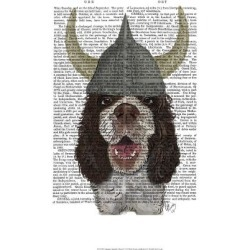 Art Print: Fab Funky's Springer Spaniel Viking, 19x13in.