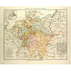 Giclee Painting: Map of Germany 1815 - 1866, 16x12in. found on Bargain Bro India from Allposters.com for $19.59