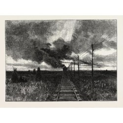 Giclee Painting: Railway in Canada, Nineteenth Century, 24x18in.