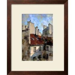 Framed Art: Hugo's Red Roof in Paris, France, 22x18in.