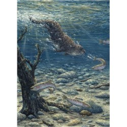 Giclee Painting: Tift's Underwater Pursuit, 24x18in.