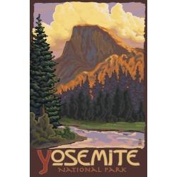 Poster: Lantern Press' Half Dome, Yosemite National Park, California,