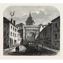 Giclee Painting: Franco-Prussian War: the Black Door, Besançon, 1870,