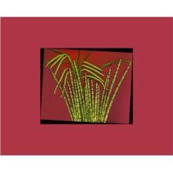 Art Print: Hot pink tropical Grass, 30x40in.