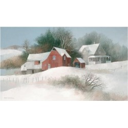 Giclee Painting: Swayhoover's Bayberry Farm, 28x46in.