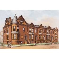 Art Print: Victorian House, No. 17, 9x12in.