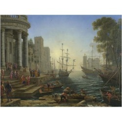 Giclee Painting: Lorraine's Seaport with the Embarkation of Saint Ursu found on Bargain Bro Philippines from Allposters.com for $69.99