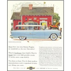 Giclee Painting: GM Chevrolet Station Wagons, 56x44in.