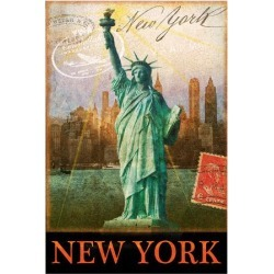 Giclee Painting: Vest's New York, Statue of Liberty, Manhattan, 16x12i found on Bargain Bro Philippines from Allposters.com for $20.99