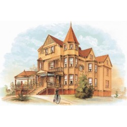 Art Print: Victorian House, No. 20, 9x12in.