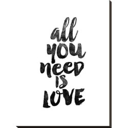 Stretched Canvas Print: Wilson's All You Need is Love, 29x22in. found on Bargain Bro Philippines from Allposters.com for $163.99