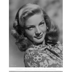 Photo Print: Movie Star News' Lauren Bacall smiling in Floral Dress in