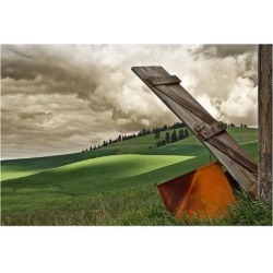 Giclee Painting: Winston's Landscape and Door, 28x40in.