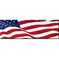 Stretched Canvas Print: Pnoramic American Flag, 18x54in.