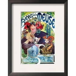 Framed Art: Mucha's Beer Ad By Mucha, C1897, 15x12in.