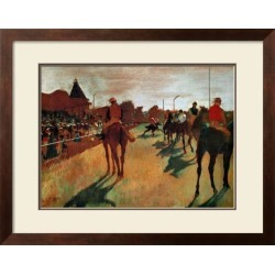 Framed Art: Degas' Race Horses in Front of the Grandstand, 22x28in.