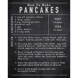 Giclee Painting: Frazier's Rustic Recipe - Pancakes, 28x22in.