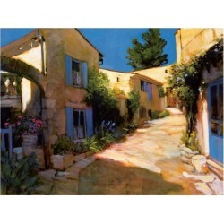 Giclee Painting: Craig's Village in Provence, 44x64in.