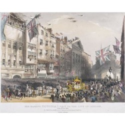 Giclee Painting: Hullmandel's Temple Bar, London, 1837, 24x18in.