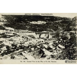 Poster: General View on Way to Es Salt, Palestine, WW1, 24x16in.