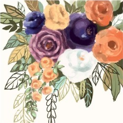Art Print: Floral #9, 13x13in. found on Bargain Bro from Allposters.com for USD $18.99
