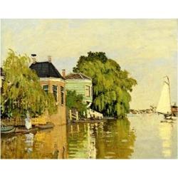 Giclee Painting: Monet's Art Print: Landscape at Zaandam Art Print by