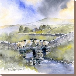 Stretched Canvas Print: McNaughton's Sheep On A Bridge, 24x24in. found on Bargain Bro from Allposters.com for USD $48.63