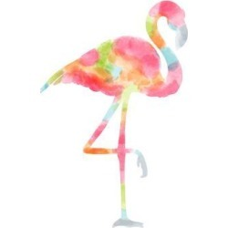 Art Print: Nohren's Watercolor Flamingo, 16x12in. found on Bargain Bro Philippines from Allposters.com for $8.79