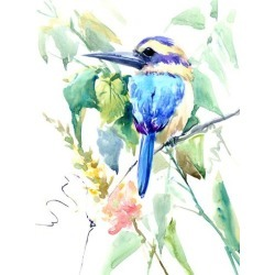 Art Print: Nersisyan's Turquoise-Green Kingfisher, 16x12in. found on Bargain Bro Philippines from Allposters.com for $8.79