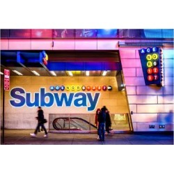 Poster: Hugonnard's Entrance of a Subway Station in Times Square - Urb