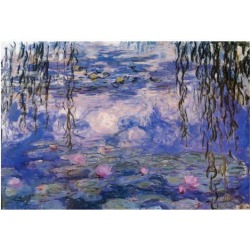 Poster: Claude Monet Water Lilies with Clouds Art Poster Print, 13x19i found on Bargain Bro from Allposters.com for USD $6.83