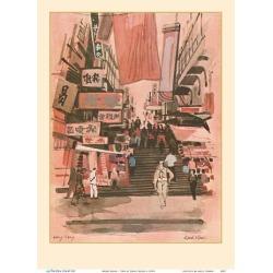 Art Print: Klein's Hong Kong - TWA (Trans World Airlines) Menu Cover,