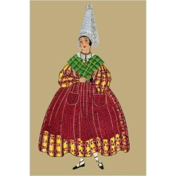 Art Print: Moffat's Woman of Brittany with a Peaked Hat, 24x16in. found on Bargain Bro India from Allposters.com for $38.99