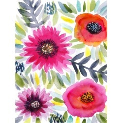 Art Print: Nohren's Floral Watercolor 8, 24x18in. found on Bargain Bro Philippines from Allposters.com for $12.79