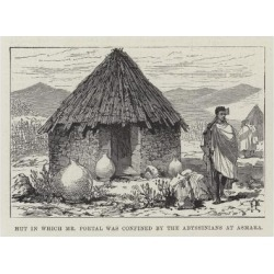 Giclee Painting: Hut in Which Mr Portal Was Confined by the Abyssinian