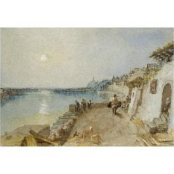 Giclee Painting: Turner's Rietz, Near Saumur, C. 1830 (Watercolour and