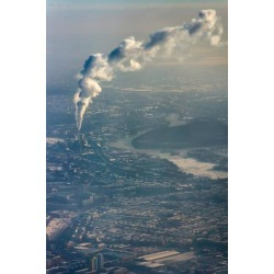 Poster: Lux's Aerial Picture, Berlin, Figuring Environmental Pollution