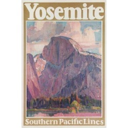Art Print: Travel Poster for Yosemite National Park, 24x18in.