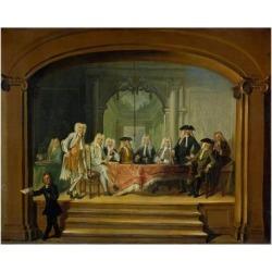 Art Print: Troost's Regents of the Aalmoezeniersweeshuis Orphanage in