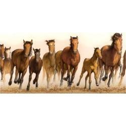 Giclee Painting: Johnson's Running Horses, 24x16in.