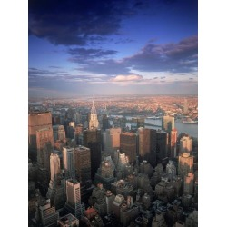 Poster: Adams' New York City Skyline, NY, 24x18in.
