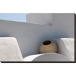 Stretched Canvas Print: Greek roof decoration, 15x22in.