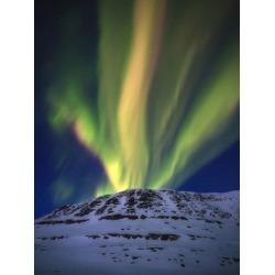 Poster: Stocktrek Images' Aurora Borealis over Toviktinden Mountain in
