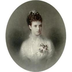Giclee Painting: Bergamasco's Portrait of Empress Maria Fyodorovna of