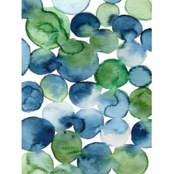 Art Print: Nohren's Watercolor Blue Green Circles, 32x24in. found on Bargain Bro Philippines from Allposters.com for $17.99