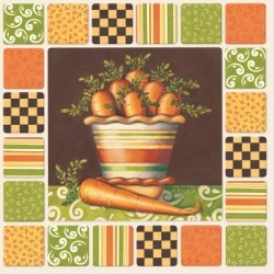 Art Print: Middlebrook's Carrots, 12x12in.