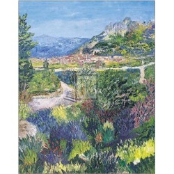 Art Print: Forgione's Village of St. Agnes, 24x20in.