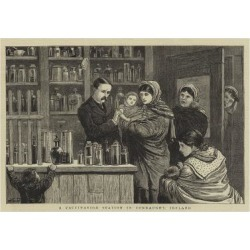 Giclee Painting: Dollman's A Vaccination Station in Connaught, Ireland